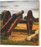 Overlooking Yorktown  ... Wood Print