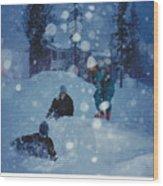 Overnight Snow Wood Print