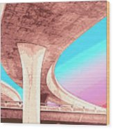 Overpass Two Wood Print