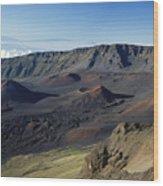 Overview Of Haleakala Cra Wood Print