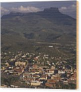 Overview Of Town Of Trinidad Wood Print