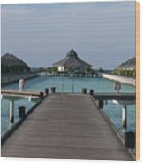 Overwater Bungalows Wood Print