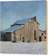 Owasa Barn 4 Wood Print