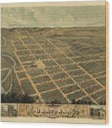 Owatonna, Minnesota 1870 Wood Print