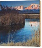Owens River Sunrise Wood Print