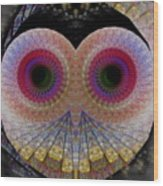 Owl Abstract Wood Print