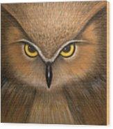Wise Eyes Wood Print