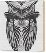 Owl Illustration Wood Print
