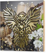 Owl In Flight Collection Wood Print