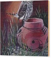 Owl N Pot Wood Print