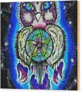 Owl No Uv Wood Print