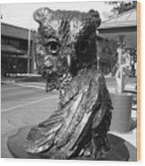 Owl Sculpture Grand Junction Co Wood Print