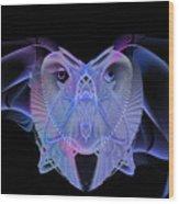 Owleus Barneous Abstractacus Wood Print