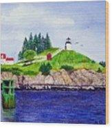 Owls Head Lighthouse Wood Print