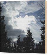 Owls Head Sky Wood Print