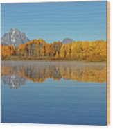 Oxbow Bend First Light  Wood Print