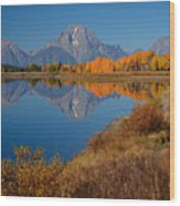 Oxbow Bend Wood Print