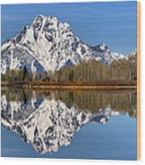 Oxbow Snake River Reflections Wood Print