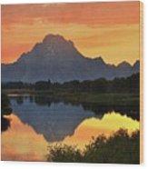 Oxbow Sunset 13 Wood Print