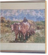 Oxcart After Nicolae Grigorescu Wood Print