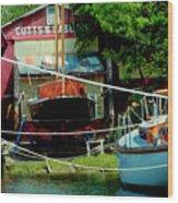 Oxford Boat Works Wood Print