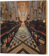 Oxford Cathedral Nave Wood Print