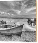 Oyster Boat Ap3392 Wood Print