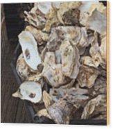 Oyster Shells Wood Print
