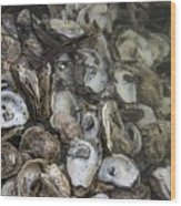 Oysters Four Wood Print