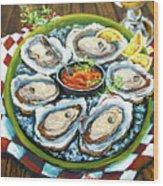 Oysters On The Half Shell Wood Print by Dianne Parks