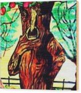 Oz Grumpy Apple Tree Wood Print by Jo-Ann Hayden