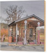 Ozark Car Filling Station Wood Print