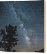 Ozarks Milky Way Wood Print