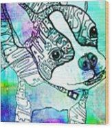 Ozzy Boy Blues Wood Print by Robin Mead
