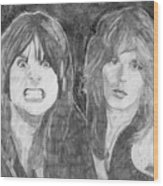 Ozzy Osbourne And Randy Rhoads Wood Print