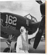 P-38 Ghost Flight Wood Print