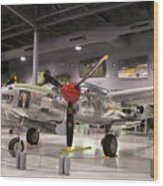 P-38 Lighting Marge Wood Print