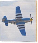 P-51 Mustang American Rose Wood Print
