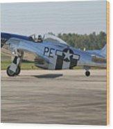 P-51 Mustang Wood Print