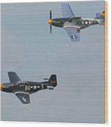 P-51 Mustangs Wood Print