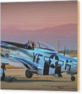 P-51d Mustang 'dakota Kid II. The Long Island Kid' And Casey Odegaard Wood Print
