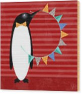 P Is For Penguin Wood Print