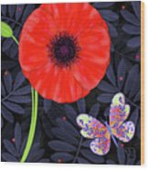 P Is For Pretty Poppy Wood Print