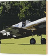 P40 Take Off Wood Print