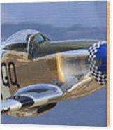 P51d Mustang At Salinas Wood Print