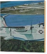 P5m Over North Island Wood Print