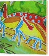 Pa Froggy Wood Print