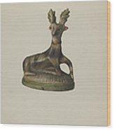 Pa. German Chalkware Deer Wood Print
