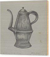 Pa. German Coffee Pot Wood Print