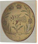 Pa. German Pie Plate Wood Print